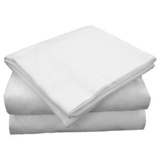 220 Thread Count Easy Care Selection Cotton-Polyester Blend Queen Sheets - Set