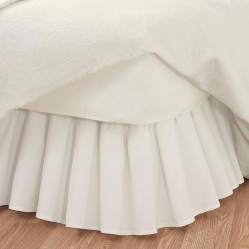 Deluxe Dust Ruffle Bedskirt Dual Queen