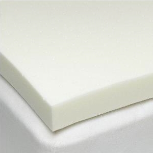 "Deluxe 3"" Firm Support Foam Mattress Topper - 3-Quarter"