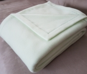 Light Green Fleece Throw promo item on orders over $150