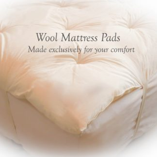Regular Custom-Fit Wool Mattress Topper / Pad - 3-Quarter