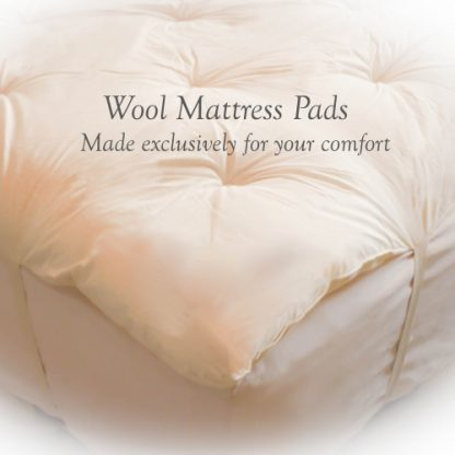 DELUXE Custom-Fit Wool Mattress Topper / Pad - 3-Quarter